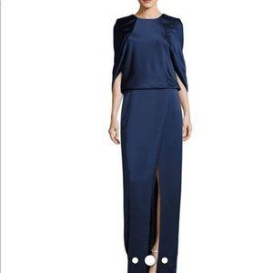 NWT Halston Heritage Woman Split-front Draped gown